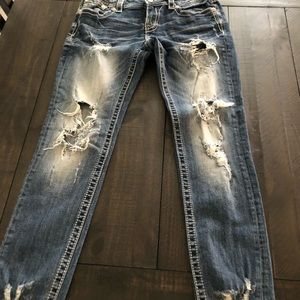 Size 30 Distressed Miss Me Jeans